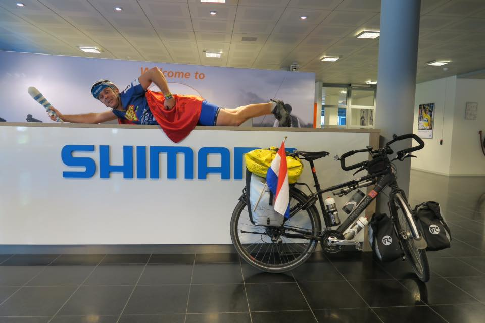 Shimano offices Super cycling man