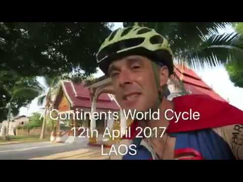 12th April 2017 - race to the Laos border - 7 Continents World Cycle