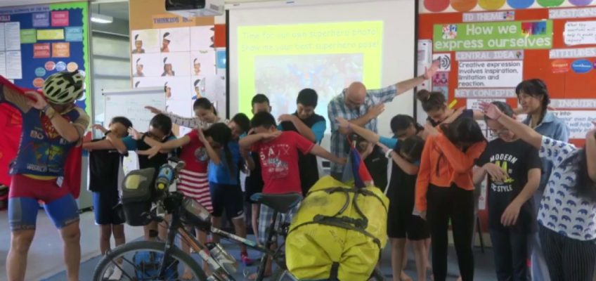 21st April 2017 - Cambodian school visit - 7 Continents World Cycle