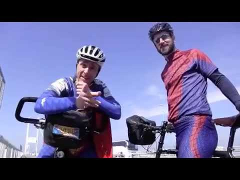 Day 6 of SuperCyclingMan's Tour of GB &Ireland - Bristol to Cardiff 7.4.15