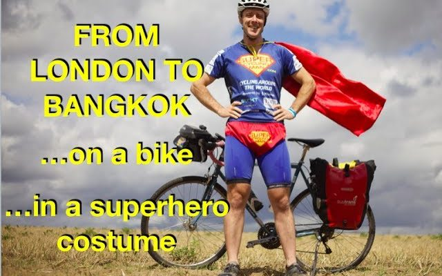 I just cycled from London to Bangkok...in a superhero costume!