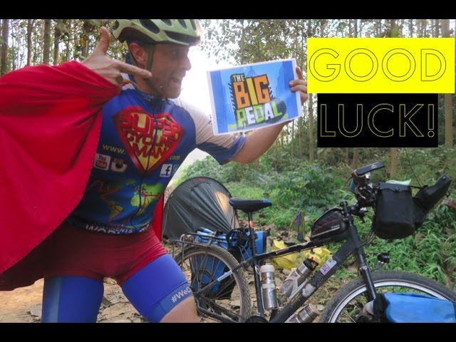 """Q & A about my world cycle and """"Good Luck!"""" for the Big Pedal Granard School :-)"""