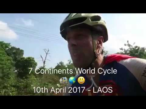 10th April 2017 – Tallest waterfall in Laos – 7 Continents World Cycle, LAOS