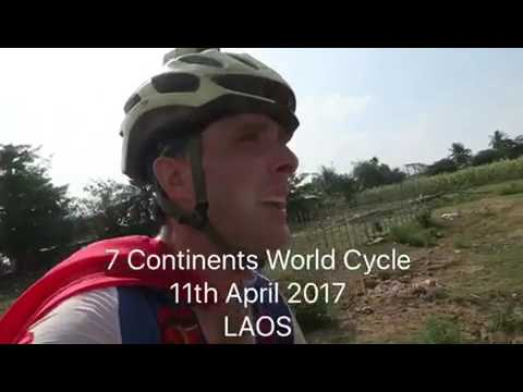11th April 2017 – Off to Wat Phu – 7 Continents World Cycle, LAOS