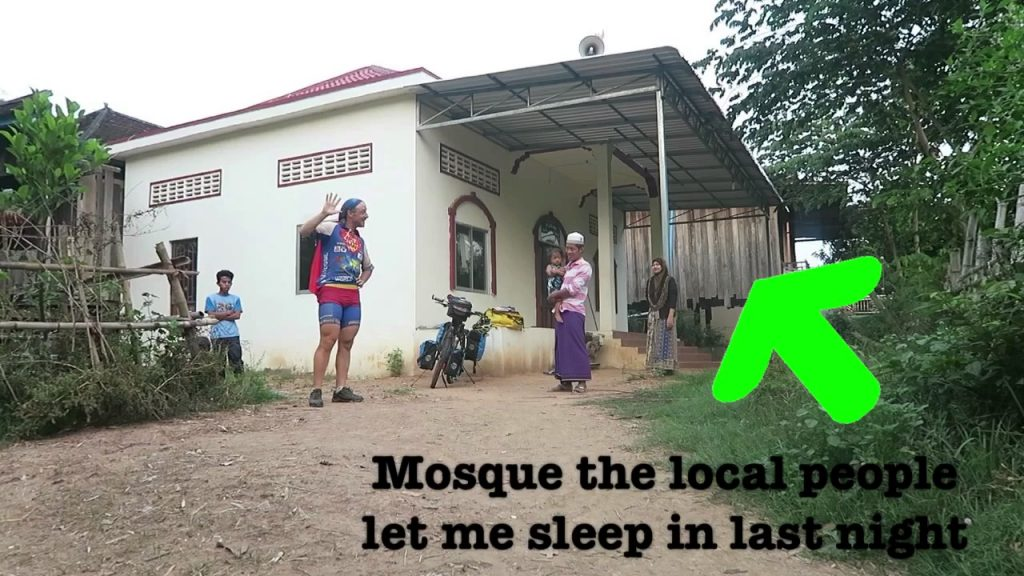 18th April 2017 – Sleeping in a mosque – 7 Continents World Cycle, CAMBODIA