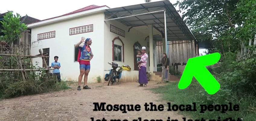 18th April 2017 - Sleeping in a mosque - 7 Continents World Cycle, CAMBODIA
