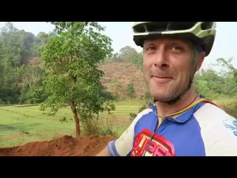 24th March 2017, wild cycling in central Laos