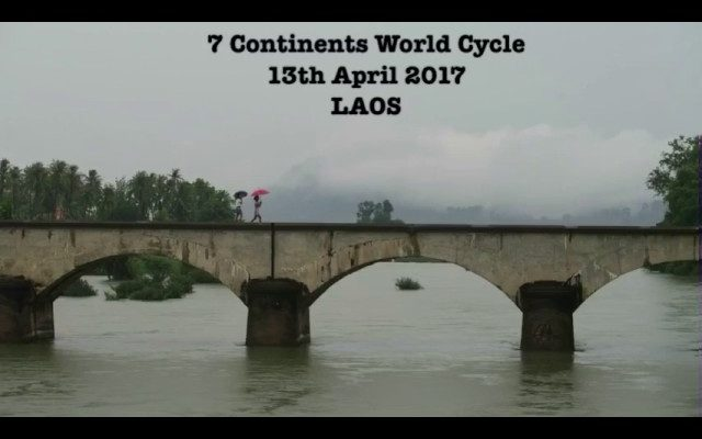 13th April 2017 - washing my clothes in the toilet - 7 Continents World Cycle, LAOS