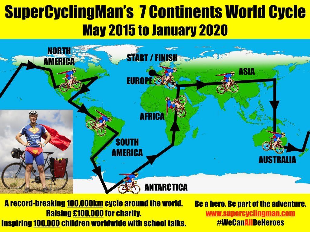 Man sells postcards to keep round the world bike ride going