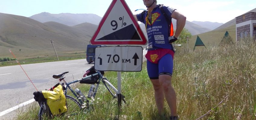 SuperCyclingMan cycling in Armenia...hills, hills and more hills