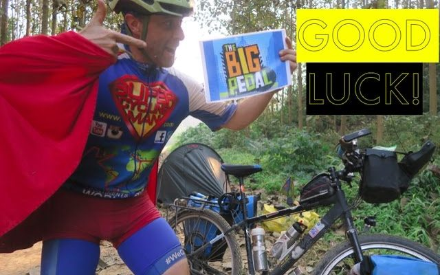 """SuperCyclingMan says """"GOOD LUCK!"""" Penwortham School for the Big Pedal"""
