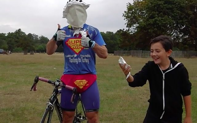 SuperCyclingMan's #PiesForParkinsons challenge