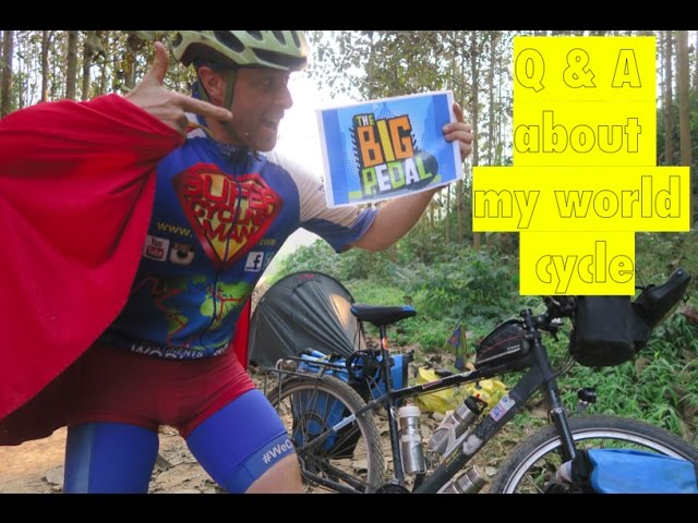 """Q & A about my world cycle and """"Good luck!"""" to St Marys C of E Primary School for the Big Pedal"""