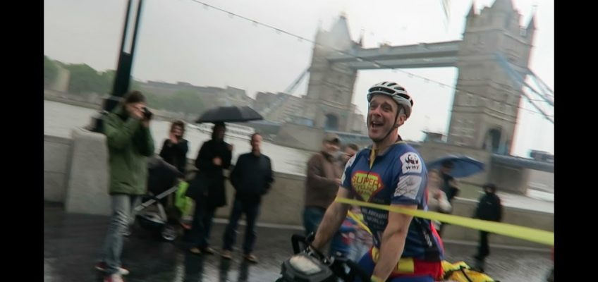 Tears and laughter as I leave my home to cycle around the world